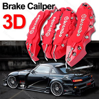 Free shipping 4pcs 3D Red Brembo For Lexus Style Car Brake Disc Caliper Cover Racing Front Rear KIT car styling parking