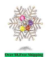 Boutique fashion  the colors - snow and ice snow pin chain.scarves buckle Abrooches S049