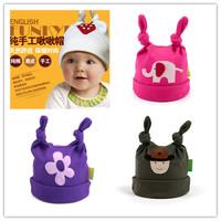 Tweeted cap handmade organic cotton newborn baby hat cotton hedging headwear wholesale free shipping