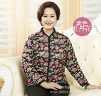 Free shipping 2014 winter new mother dress down cotton jacket warm small cotton spring and autumn small coat in the elderly
