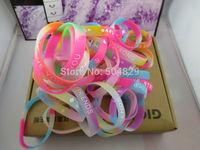 wholesale promotion gift 1000pcs/lot rainbow Light silicone Luminous  wristband