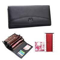 Special sales 100% Genuine Natural Leather Wallet Women's Wallet Clutch long design clip Wallet Long Brand Wallets Purse Women