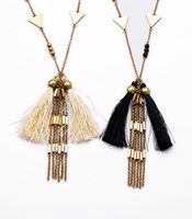 Fashion fashion accessories long design autumn women's all-match tassel necklace