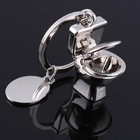 Bathroom Toilet Key Ring Mini Chain Classic Keychain Cute Creative Silver Cute Key Chain Versatile Metal