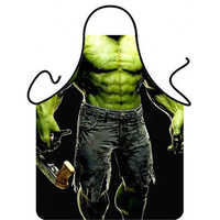 TB010 Sleeveless apron Novelty Funny Hulk Giant Cooking Apron Valentine's Day Couple Birthday Party Tricky Surprise Gift 56*72cm