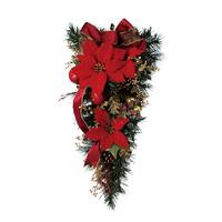 Free shipping  Christmas decoration rattan supplies door head ornaments 50CM