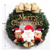 Free shipping 50cm Santa Claus Christmas wreath garland St.