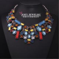 JOEY New Hot Fashion Diamon d Jewelry Necklace Vintage Gem stone Jewelry Chokers Necklace Free Shipping JA14203
