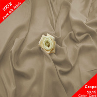 "Camel Pure Silk Crepe De Chine 14MM 3Yard Width45"" Costume Dress Sleepwear"