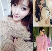 2014 New Sun Yun-yun same paragraph strapless hand- knitting sweater collar sweater coat