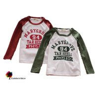 2014 New Children Clothing Boys and Girls Autumn and Spring  letters Long-sleeved Cotton Tshirt Children Tshirt