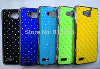 2 PCS / LOT New bling shining stars Chrome Rhinestone High quality Skin Hard Cover Case for Huawei honor 3X G750