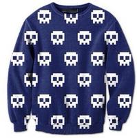 Hot Sale 2014 Autumn Fashion Harajuku Women men Lover's Unisex Casual Sweatshirt Hoody pullover Skulls Print Loose Top S-G9