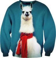 2014 New autumn winter Alpaca Unicorn Animal 3D digital Print Women Sweatshirt Men Hoodies Pullover Sweaters Dropship S-G26