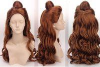 Movie Cosplay Wig Princess Beauty and the Beast - Bell Princess Anime Wig Natural Kanekalon hair no lace Wigs Shipping free