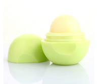 10pcs/lot Lip balm Organic Ingredients lip protector sweet taste Fruit embellish lip ball makeup lipstick gloss free shipping