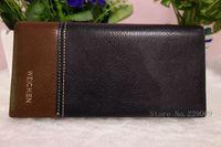 Promotion Casual Wallets For Men Design Genuine Leather  Purse Long section Men Wallet  Monedero purse With Coin Bag Wholesale