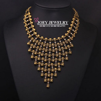 JOEY New Necklace Exaggerated Skull Tassel Crystal Chokers Necklace Pendant Jewelry Free Shipping JA14205