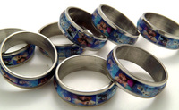 Wholesale 50 pcs Frozen character Stainless Steel Rings For Children Fashion Jewelry