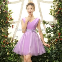 Made In China Fashion Sweet Beaded Bow Lace wedding Mesh Strapless Short Prom Dresses