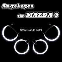 4 PCS/SET 2004-2008 MAZDA 3 CCFL ANGEL EYES HALO RINGS KIT HEADLIGHTS WHITE BLUE YELLOW RED