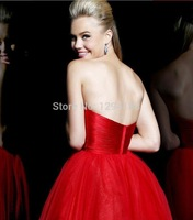 Short Prom Dresses 2014 New Made In China Beaded Sweetheart Sleeveless Ball Gown zipper In Stock Size Abendkleider