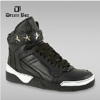 New 2014 Autumn Winter Fashion Givenc  STAR EMBELLISHED brand design TYSON Hi Top  men street Hip-Hop sneakers mens casual shoes