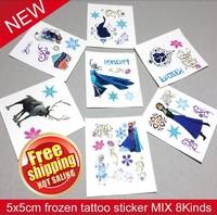 50pcs FROZEN Tattoo Sticker Temporary Kids favors DIY Cute Temporary waterproof cartoon FROZEN STICKER body  finger decoration