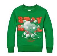 #2520 kids garment children winter clothing boys/girls mirco velvet thicken thermal o-neck long sleeve t-shirts