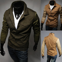 Hot ! 2014 Brand Fashion Winter Jacket Men Denim Military Jacket Mens Bomber Jacket Jaqueta Masculina Jackets And Coats