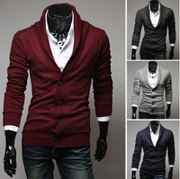 2014 new spring spring explosion models long-sleeved knit shirt male British retro V-neck cardigan sweater coat male