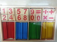 1PC Digital Intelligence Great Toys Montessori Math Wooden Material Color Calculation Early Education Enlightenment Toy FZ2065