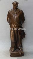 "22"" Chinese famous Mao Zedong Chairman revolutionist strategist Bronze Statue"