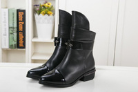 2014 woman short Special head layer litchi grain leather + thin wool inside woman boots sneakrs for woman 35-40