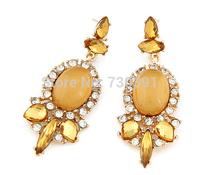 Free shippingNew Fashion Charm Elegant Retro Resin Rhinestone Statement Earrings