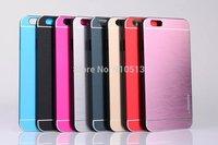 Hot Motomo Aluminum case for iphone 6, aluminum brushed bright case for iphone 6