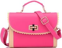 The 2014 new autumn and winter fashion casual lace turn lock packet women handbags diagonal shoulder bag 26*7*18cm SJ-46