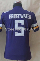 #5 Teddy Bridgewater Jersey,Youth/Kids American Football Jersey,Best quality,Authentic Jersey,Size S--XL,Accept Mix order