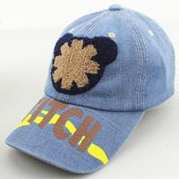 Children's cartoon Mickey denim patch Benn baseball hat baby summer sun hat hip-hop