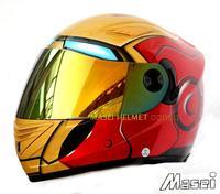 M star light helmet MASEI IRONMAN iron man motorcycle helmet 830 full face red