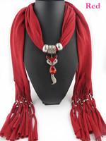 3Pcs/Lot New design tassel scarf favorite cute fox pendant scarf women jewelry