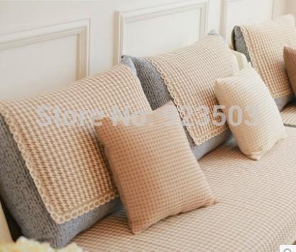 Grátis frete 2014 2014 café quente a almofada do sofá 100% algodão da listra deslizamento sofá toalha almofada do sofá criativo(China (Mainland))