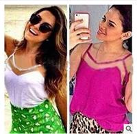 5865 Blusas Femininas 2014 NEW Slim Fit Chiffon Women Blouse Top Vest Casual Shirts Trendy Blusas