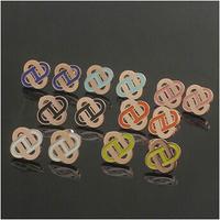 Gurantee 100% 316L Titanium Steel 1.3 wide Brand rectangle stud korean earring for women brand ER315