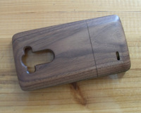 Free Shipping Real Genuine Handmade Natural Bamboo Wood Wooden Hard Case Cover For LG Optimus G3 Walnut Wood!