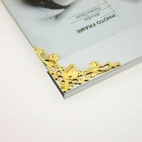 100pcs 41mm Gold FILIGREE Metal CORNERS Wedding Invitation Stick On Toppers  Free Shipping TG10