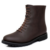 Autumn New Arrival High Quality Genuine Leather Boots Man Shoes Mens Leather Tall Boots Designer Zip Bota Masculina Size 38 - 44
