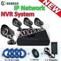 CCTV Security H.264 Outdoor Waterproof IR 720P 1.0MP HD IP Network Camera POE NVR Kit Video Surveillance CMS Cloud System