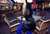 Hot Sale Women Casual Large Vintage Leather Rivet Punk Messenger Bags Shoulder Bag Fashion Unique Designer High Quality Party