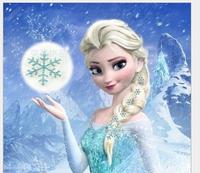 New Snowflake Style Frozen Princess Snow Queen Elsa Hair pins blue Set (1 Hair Clip + 5 Small Hair Pin)FROZEN movie accessories